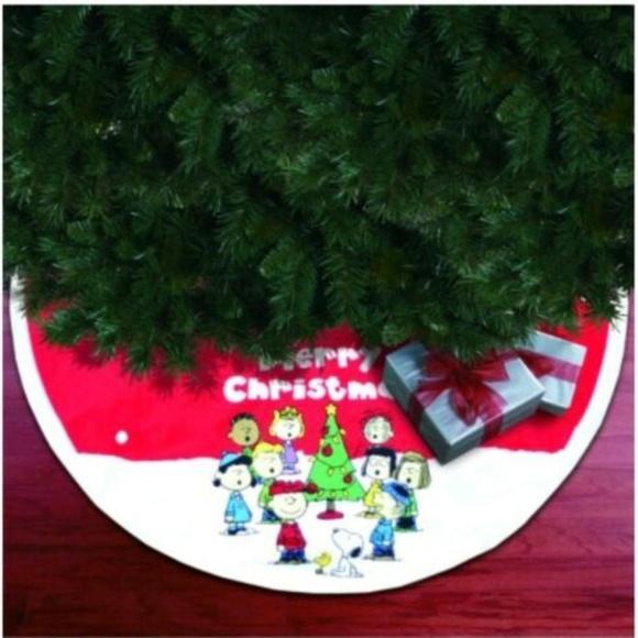 Peanuts Christmas Tree.Snoopy Peanuts Christmas Tree Skirt 48 Nwt